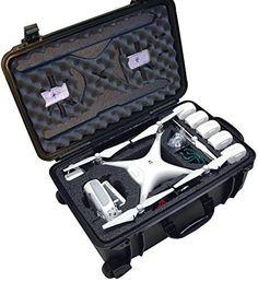 Case Club Waterproof DJI Phantom 4 Drone Wheeled Case with Silica Gel (Propellers On) - http://dronescenter.net/case-club-waterproof-dji-phantom-4-drone-wheeled-case-silica-gel-propellers/