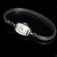 HAMILTON Armbanduhr 10K. Gold Weißgold Filled Antik ca. 20er Jahre 10Kt. Armband