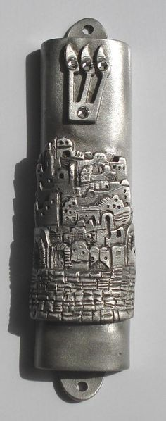 Pewter Mezuzah City of Jerusalem by BJCRYSTALGIFTS on Etsy.   Hey Friends, Not sure what to buy me for my birthday? Try this! ~ RF