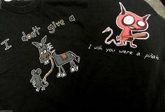 Funny Humor Lot of 2 Shirts Dont Give a Rats Ass - Wish You Were a Pinata Large  #funnyshirts #dontgivearatsass #iwishyouwereapinata #humor #workoutshirts