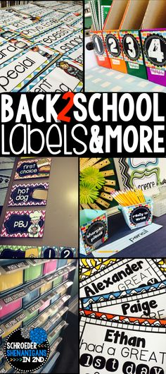 Get your classroom labels to start the new school year from supply labels, drag labels, teacher tool box labels and FREE schedule cards, you'll be labeled and organized for the new school year.