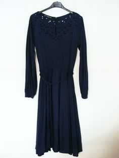 1970s marine blue Louis Féraud dress