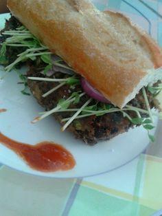 Vegan burger sandwich #vegan #vegetarian #food