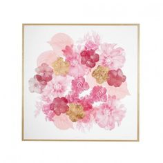 Floral Paper Print Pink Bonnie and Neil (8.163.855 IDR) ❤ liked on Polyvore featuring home, home decor, wall art, floral home decor, pink flamingo wall art, pink flower wall art, flower stem and framed floral wall art