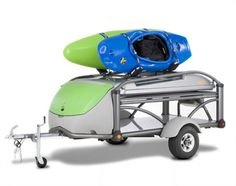 Kayak Camping Gear Check out this Cool Kayak / Tent Trailer. It's the ultimate transformer for the kayak fisherman! Oregon Camping, Camping Tours, Kayak Camping, Camping Checklist, Family Camping, Small Pop Up Campers, Mobiles, Camping For Beginners, Kayak Accessories
