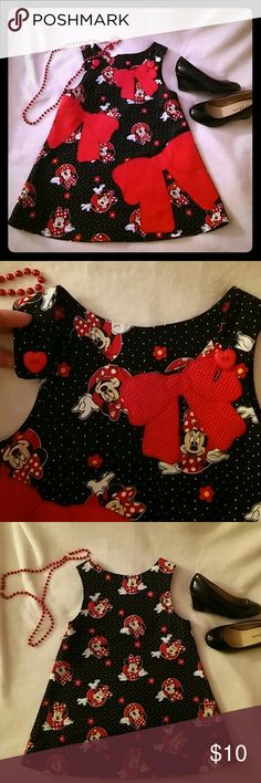 4T Mini Mouse dress Hand made by the gramma..my girl was y'all and skinny this will fit 3-4T...offer? Dresses Casual