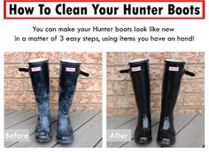 Something About That...: How To Clean Hunter Boots