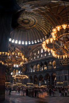 whitenoten: Hagia Sophia , Istanbul - by: { David Hurley} (Daily Visual Overdose) Hurley, Hagia Sophia Istanbul, Wallpaper Tumblr Lockscreen, Dome Ceiling, Travel Route, Islamic Architecture, Public Architecture, Image Categories, David