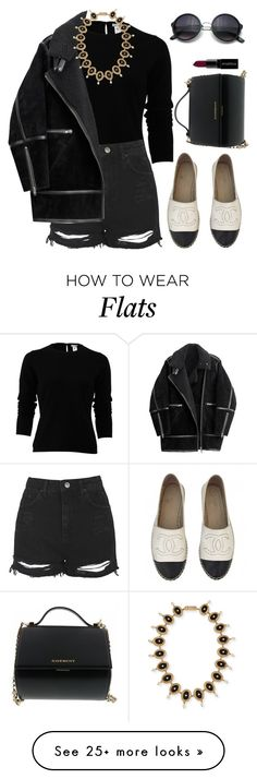 """""""Untitled #1820"""" by lauraafreedom on Polyvore featuring Chanel, Oscar de la Renta, Topshop, H&M, Givenchy, Smashbox, women's clothing, women's fashion, women and female"""