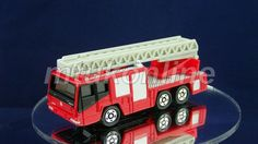 TOMICA 108D HINO AERIAL LADDER FIRE TRUCK | 1/139 | 108D-1 | FIRST | 2002 CHINA Old Models, Hinata, Fire Trucks, Ladder, Auction, Collection, Boxing, Chinese, Fire Truck
