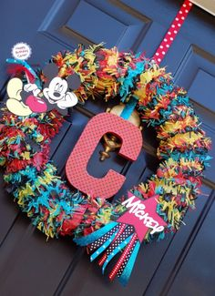 Super Cute Micky Mouse wreath