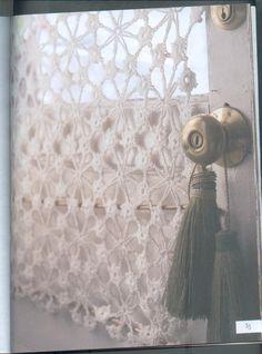 """Patron de cortina, extraído de """"Lo mejor de tejer la moda/Labores del hogar"""""""