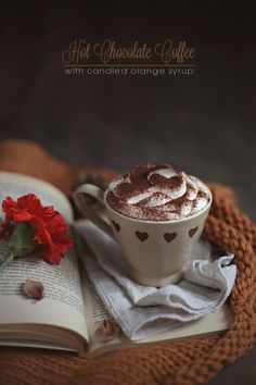 Hot Chocolate Coffee with Candied Orange Syrup