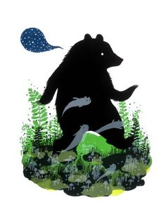 Ghost Bear print by Diana Sudyka found on postercabaret.com