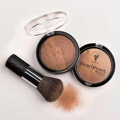 Beachfront Bronzer $32 My, you're looking sun-kissed! That's the Beachfront Bronzer talking. Half matte and half shimmer, this summery wonder gives you a golden glow. Made with Safflower, Ginseng, Aloe, and Ginkgo.