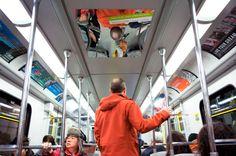 Panorama Hair svela la vostra calvizie con uno specchio nella metro