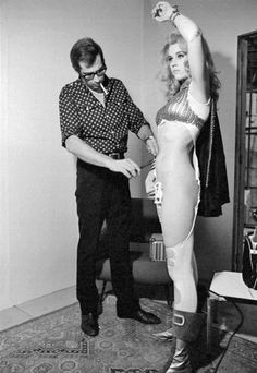 Behind-the-scenes photos of 'Barbarella,' 1968 | Dangerous Minds