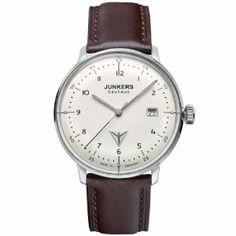 Junkers - 60465 - Montre Homme - Automatique - Analogique - Bracelet Cuir Beige: Amazon.fr: Montres