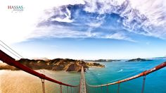 breathe taking pic of the Golden Gate Bridge and beyond