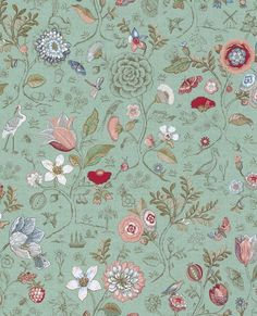 New Spring to Life Green Pip Studio Wallpaper is now available at Bell and Blue. All wallpaper can be ordered from Bell and Blue. Free UK delivery on all wallpaper orders. Plant Wallpaper, Green Wallpaper, Wall Wallpaper, Pattern Wallpaper, Wallpaper Backgrounds, Iphone Wallpaper, Teal Wallpaper Floral, Wallpaper 2016, Textures Patterns