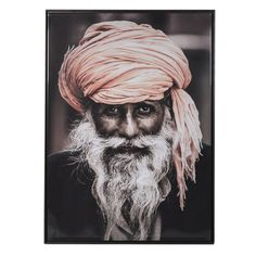 Indian Man Large Print with Frame - Hillary & Flo