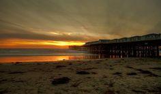 a pier on the san diego beach