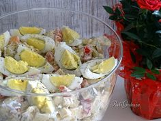 Sałatka z tortellini Tortellini, Potato Salad, Salads, Potatoes, Ethnic Recipes, Potato, Salad, Chopped Salads