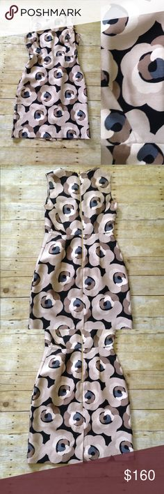 """Kate Spade Deco Rose """"Della"""" dress Floral, neutral colored. 53% cotton and 47% silk dress. Measures approximately 36"""" bust, 29"""" waist, hips 38"""", and 37"""" long. Very gently worn. No signs of wear. Make an offer! kate spade Dresses"""