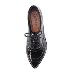 Sapato Oxford Feminino Piccadilly Verniz com Nobuck Preto