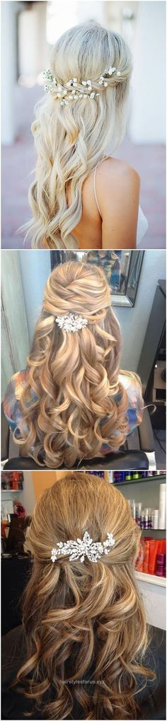 Neat Wedding Hairstyles » 22 Half Up and Half Down Wedding Hairstyles to Get You Inspired » ❤️ See more: www.weddinginclud…  The post  Wedding Hairstyles » 22 Half Up and Half Down Wedding H ..