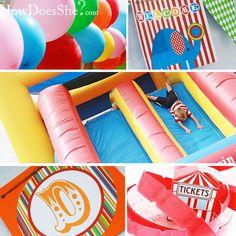 Carnival Theme - more ideas   Menu: Corndogs, popcorn, cotton candy, snow cones