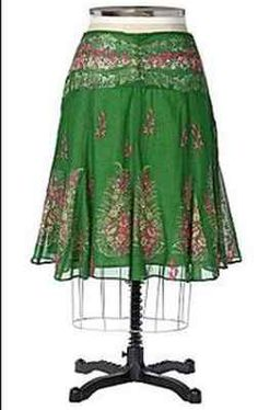 Anthropologie Hacienda Skirt Embroidered Sz 12 Very RARE 2005 Moving Sale | eBay