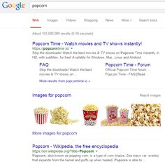 """POPCORN TIME TOPS GOOGLE SEARCH RESULTS FOR """"POPCORN"""""""