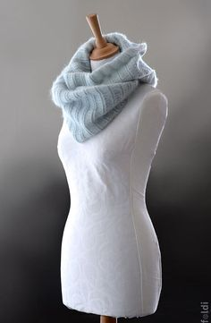 Knitted cowl knitted silk and mohair cowl knitted snood by foldi, $80.00