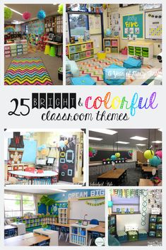 25 Bright and Colorful Classroom Themes to Create a Warm and Inviting Environment Looking to change up your theme, and want a bright and colorful classroom? Choose one or mix and match your favorite parts from all of these 25 bright. Preschool Classroom Themes, Polka Dot Classroom, Classroom Layout, Classroom Decor Themes, 3rd Grade Classroom, Classroom Walls, Classroom Design, Future Classroom, Themes For Classrooms