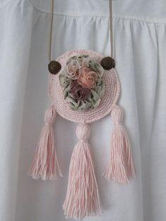 Necklace Tassel Necklace, Crochet Necklace, Tassels, How To Make, Jewelry, Fashion, Moda, Jewlery, Jewerly