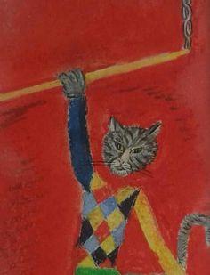 Gato trapecista (fragmento) Rodrigo Aridjis Pintor Mexicano