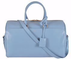 cb8ad782247f New Saint Laurent YSL 322050 BLUE Classic 12 Hour Duffle Purse Satchel  W/Strap