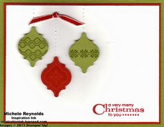 Mosaic Madness Hanging Christmas Ornaments