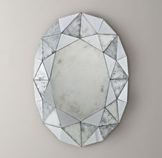 Because every girl should see a diamond when she looks in the mirror, the Restoration Hardware Jewel Mirror is on my current top 10 list of must have home accessories.