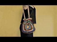 Bolsa Barroco em crochê - YouTube Black Crochet Dress, Crochet Blouse, Knit Crochet, Crochet Videos, Crochet Accessories, Crochet Hooks, Aztec, Diy And Crafts, Crochet Patterns