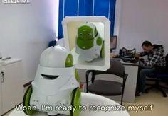 robot recognize himself