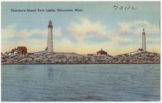 Thatcher's Island, Twin Lights, Gloucester, Mass.