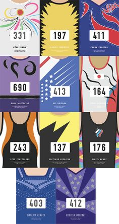 Leotard Prints - These are cool, but it makes me sad that there's no Gabby Douglas in there.