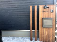 Letterbox Designs, Post Box, Yard Design, House Numbers, Minimal Design, Mailbox, Signage, Minimalism, Condo