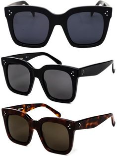 f5efe6e50905 Céline CL 41076 Tilda Oversized Square Sunglasses in black and havana  tortoise