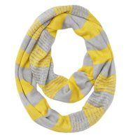 Rugby Stripe Loop Scarf - Channel sporty chic with a totally cozy cute loop, detailed with rugby inspired stripes.