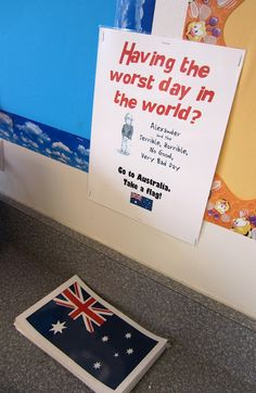 Classroom Management Tool - Having a Bad Day? Go to Australia!    I love this idea.