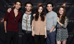 lily collins and jamie campbell bower the mortal instruments on set photos | the cast of the mortal instruments was on hand for the toronto ...