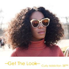 We have always loved Solange's #hair and her t#eased and #textured #curly coif in Paris Fashion Week, was no different!  Get this look with #ONYC #CurlyAddiction3B   Shop Now >>> ONYCHair.com